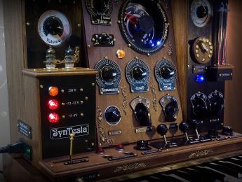 SynTesla, un sorprendente tuning steampunk de Waldorf Rocket y Streichfett