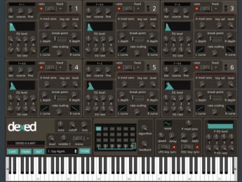 Dexed Synth, un DX7 en plugin portado a iPad y iPhone