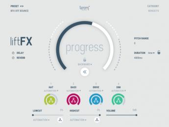 Boom liftFX, un sintetizador orientado a la creación de efectos sonoros de transición