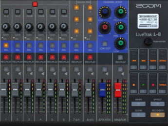 Zoom LiveTrak L-8 es mixer, interfaz y sistema de monitoreo para podcasts y música