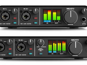 MOTU M2 y M4, dos nuevas interfaces de audio y MIDI por USB