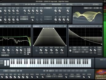 Sugaraudio Admiralizor, un sinte que combina wavetables, modulaciones audio y filtrado