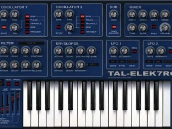 Segunda versión del sinte TAL-Elek7ro de Togu Audio Line