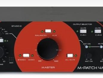 Nuevo controlador de monitores M-Patch 4M de SM Pro Audio