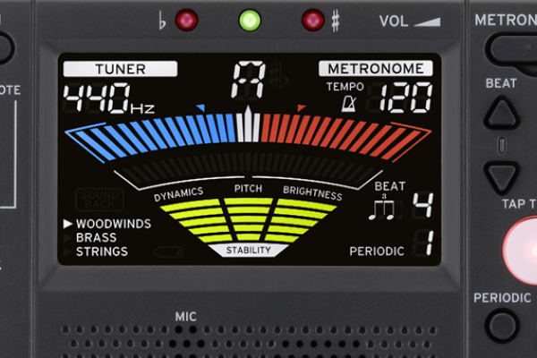 Korg TM-50TR, un afinador y metrónomo que califica qué tal tocas