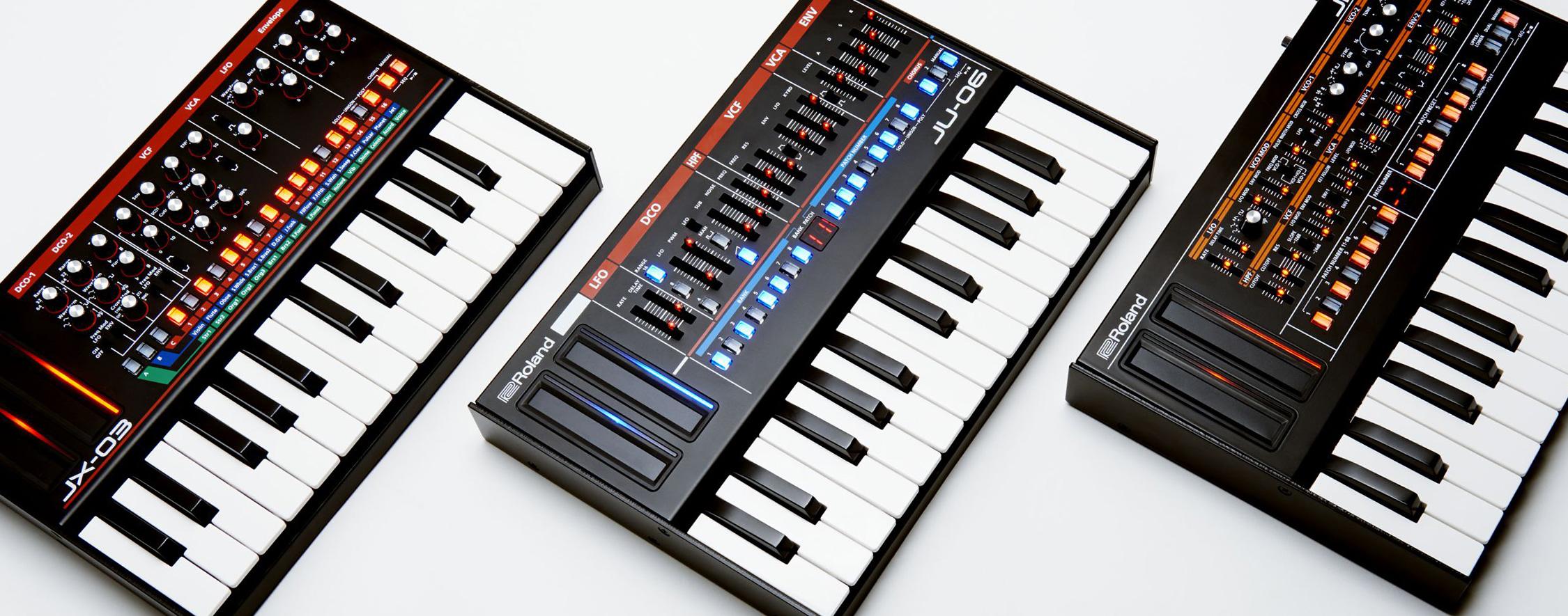 En el probador de la Boutique Roland: JU-06, JX-03 y JP-08