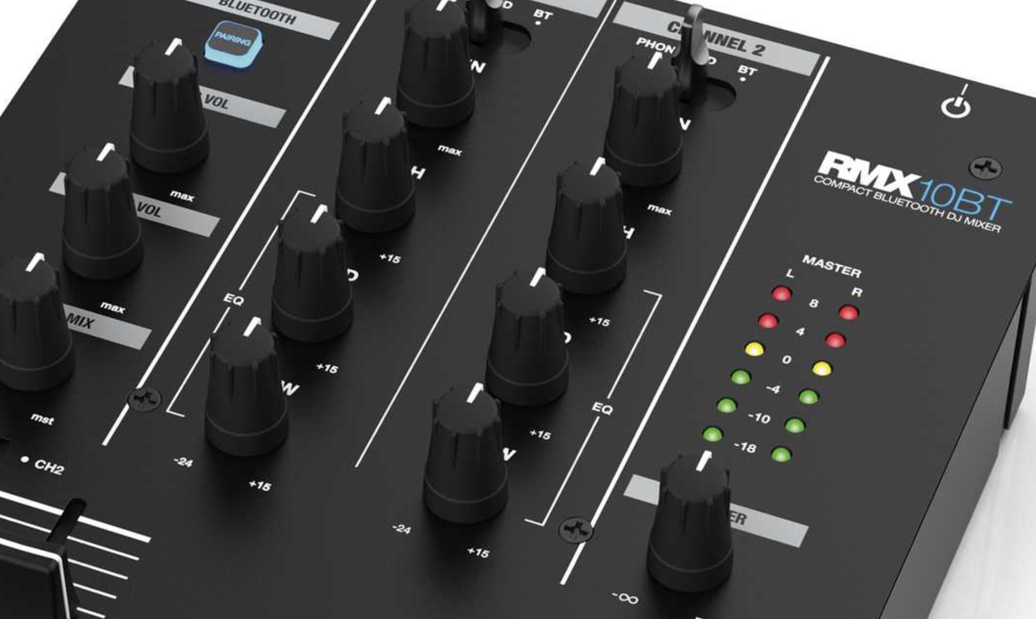 Reloop RMX-10 BT, mezclador para DJ con bluetooth integrado | Hispasonic