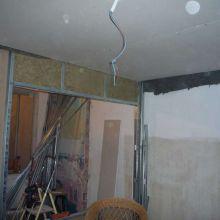 Y primera capa de pladur en el techo