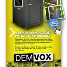 Estudios insonorizados protátiles-DEMVOX