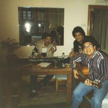 Con musicos de Perú