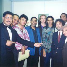 En el camerino antes de mi primera actuacion con Celia Cruz