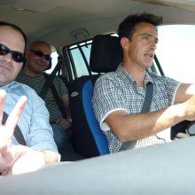 josep, Jaime y Pedro dirección Mijas.