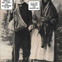 Una pareja de lugareños