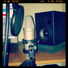 Micrófono, monitor