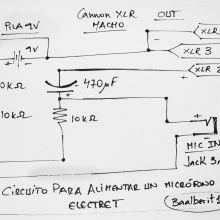 Esquema alimentación micros electret