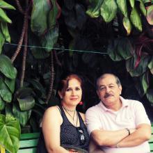 Con Angela...mi amor...