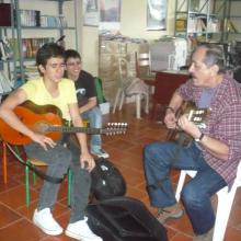 Con Nicolás y Gilberto en Elias