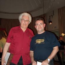 Con Bob Moog en junio de 2004
