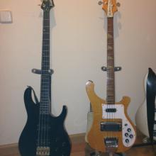 Washburn MB-8 y Rickenbacker 4003