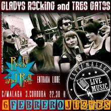 GladyS RockinG and TreS GatoS en Cafe Malaga