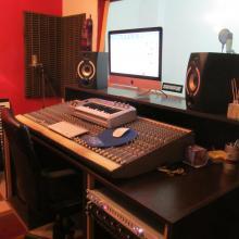 Mi home studio.