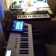Home studio night