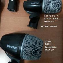 Microfonos Shure p/Drums
