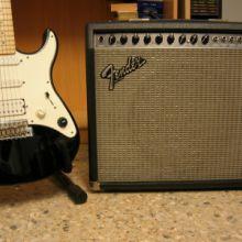 Guitarra y ampli.