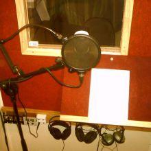 Desde interior cabina grabación