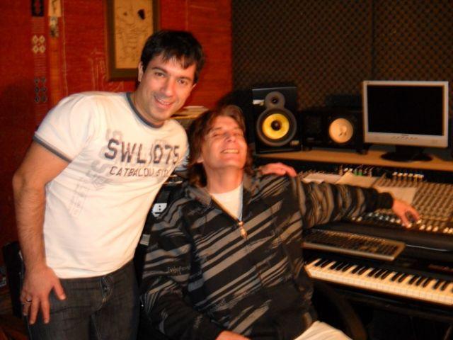 Con Juaniblus en su estudio - Dic 2009