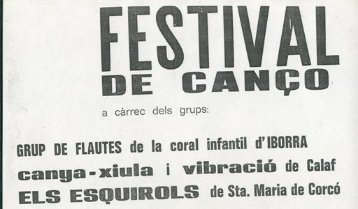 Festival de cançó Vibracio, Esquirols...
