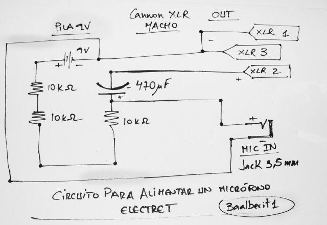 Alimentador De Micr 243 Fonos Electret Hazlo T 250 Mismo