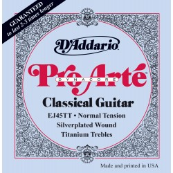 D'Addario EJ45TT ProArte Dynacore, Titanium Trebles, Normal Tension