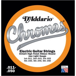 D'Addario ECG24 - Chromes Jazz Light [11-50]