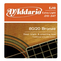 D'Addario EJ10 - Bronze Extra Light [10-47]