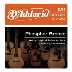 D'Addario EJ15 - Phosphor Bronze Extra Light [10-47]