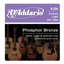 D'Addario EJ26 - Phosphor Bronze Custom Light [11-52]