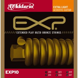 D'Addario EXP10 - Bronze Extra Light [10-47]