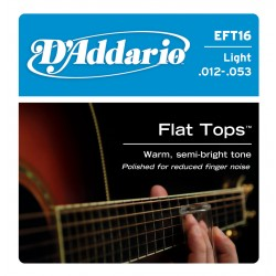 D'Addario EFT 16 Flat Tops Phosphor Bronze Regular [12-53]