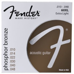 Fender 60XL Phosfor Bronze Ball 10-48
