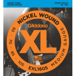 D'Addario  EXL160S Medium Short Scale [50-105]