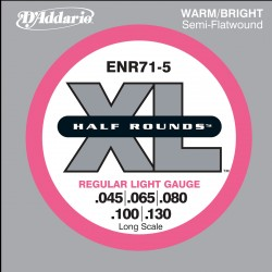 D'Addario ENR71-5 - XL Half Rounds Light 5-String