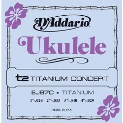 D'Addario EJ87C Titanium Ukulele Concert