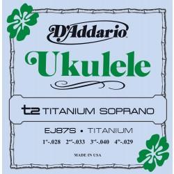 D'Addario EJ87S Titanium Ukulele Soprano