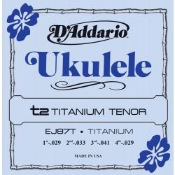 D'Addario EJ87T Titanium Ukulele Tenor