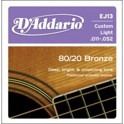 D'Addario EJ13 - 80/20 Bronze Custom Light [11-52]