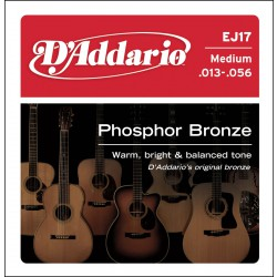 D'Addario EJ17 - Phosphor Bronze Medium [13-56]