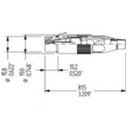 Amphenol Serie AC - Conector aéreo XLR hembra negro