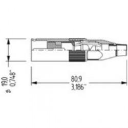 Amphenol Serie AC - Conector aéreo XLR macho