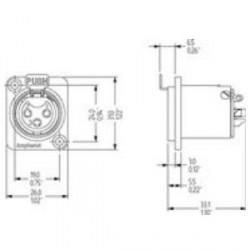 Amphenol Serie AC - Conector Chasis XLR hembra 5 Pines universal